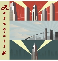 Cityscape horizontal Cartoon city in different vector image