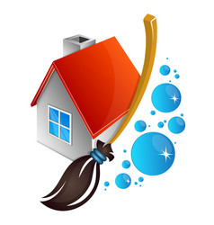 cleaning house symbol vector image