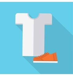 Clothing and Footwear in Flat Design vector