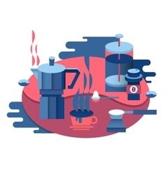 Coffee at breakfast design vector image