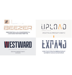collection sans serif fonts uppercase vector image