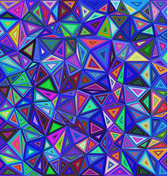 Colorful chaotic triangle mosaic background vector