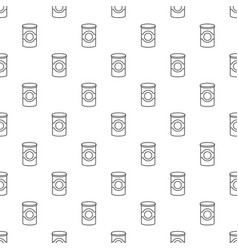cosmetic jar plastic pattern seamless vector image