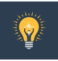 Creative thinking business ideas vector
