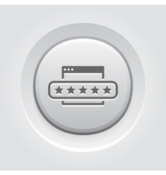 Customer Feedback Icon Grey Button Design vector