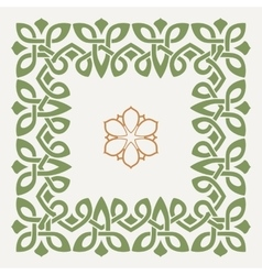 Decorative frame in the Celtic style vector