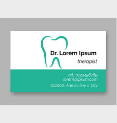 dental tooth logo dentist business card vector image