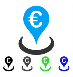 Euro location flat icon vector