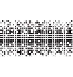 fading greyscale pixel pattern vector image