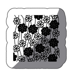 figure flowers background icon vector image