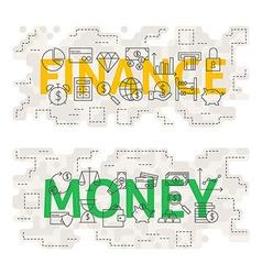 Finance Money Line Art Concept vector image