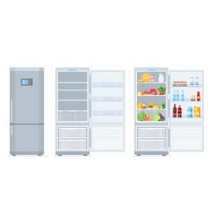 fridge with freezer vector image