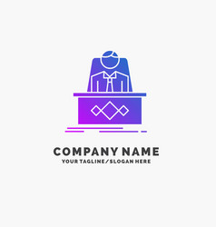 game boss legend master ceo purple business logo vector image