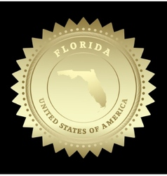 Gold star label Florida vector image