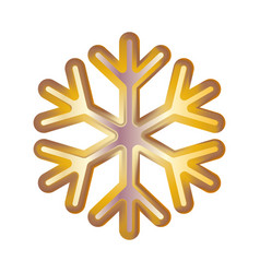 golden snowflake volumetric moderate lighting on vector image