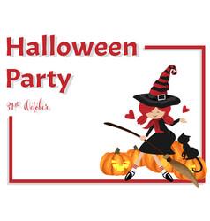 halloween background with happy halloween text vector image