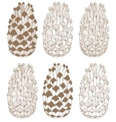 Hand-drawn cones vector