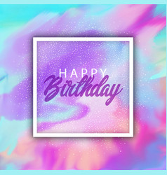 Happy birthday background with a watercolour vector