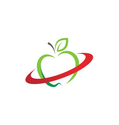 healthy apple design icon vector image