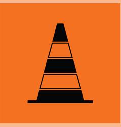 icon of traffic cone vector image