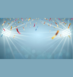 Illumination of the stage gala background vector