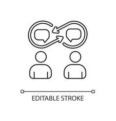Interpersonal relationship linear icon vector