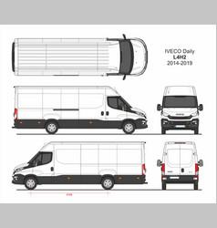 Iveco daily cargo delivery van l4h2 2014-2019 vector