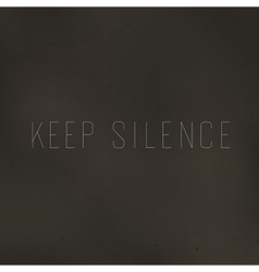 keep silence vector image