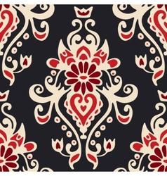 Luxury damask seamles tiled motif pattern vector