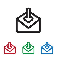 mail download icon vector image