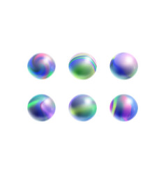 Marble beads with cosmic print vector
