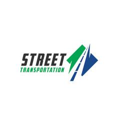 Modern road transport logo vector