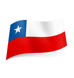 national flag of chile unequal white and red vector image
