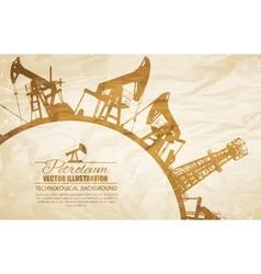 Oil pump circle frame vector image