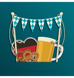 Oktoberfest decoration vector