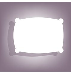 Pillow icon with shadow vector