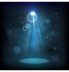 Premiere blue show background sparkles smoky vector