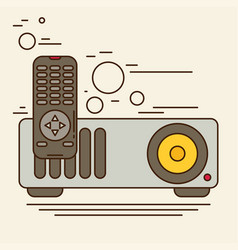 projector icon flat vector image