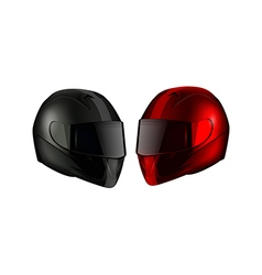 Realistic Detailed Motorcycle Helmets vector image