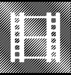 Reel of film sign icon hole in moire vector