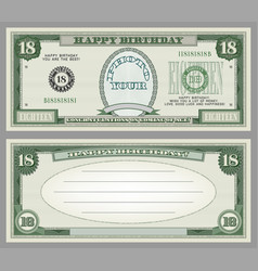 Sample happy birthday greeting card 18 vector