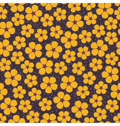 Seamless background with yellow flowers vector