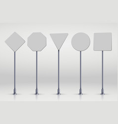 Set blank road signs vector