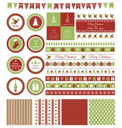 set design elements for christmas party vector image