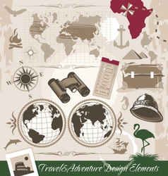 Set travel and adventure design elements vector
