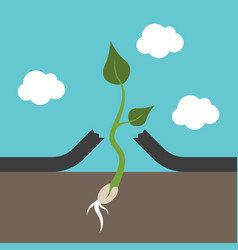 Small plant breaking asphalt vector