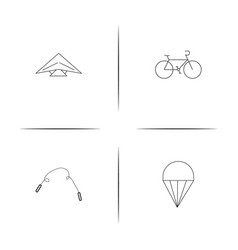 sport fitness and recreation simple linear icon vector image