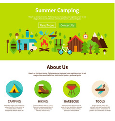 summer camping web design vector image