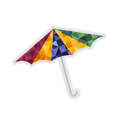 sun umbrella isolated icon vector image