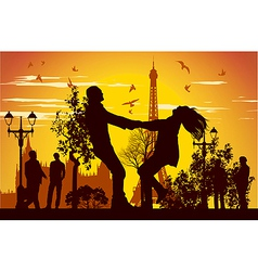 Swirling in Paris vector